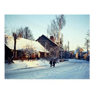 Winter morning, Prienai, Lithuania Winter Postcard