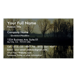 Winter morning reflection on Thames River, London, Business Cards