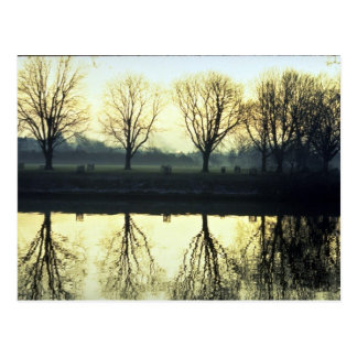 Winter morning reflection on Thames River, London, Post Cards