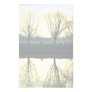 Winter morning reflection on Thames River, London, Personalized Stationery