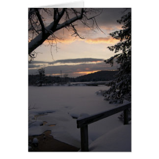 Winter Morning Sunrise Photography Card