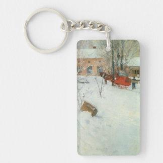 Winter Motif Åsögatan Keychain