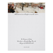 Winter Motif Åsögatan Letterhead