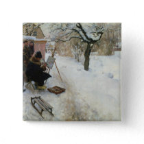 Winter Motif Åsögatan Pinback Button