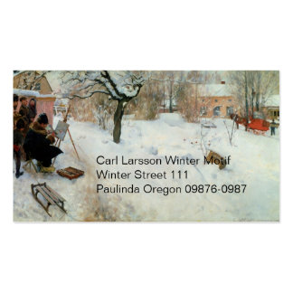 Winter Motif Asogatan Sweden Double-Sided Standard Business Cards (Pack Of 100)