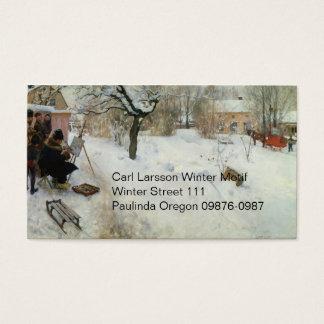 Winter Motif Asogatan Sweden Business Card