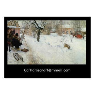 Winter Motif Asogatan Sweden Business Card Templates