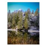 Winter Mountain Lake Landscape Photo Postcard