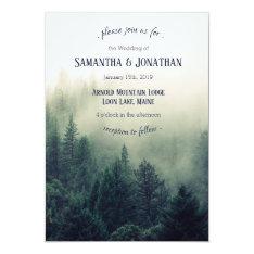 Winter Mountain Pines Wedding Invitation at Zazzle