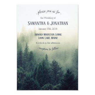 Winter Mountain Pines Wedding Invitation