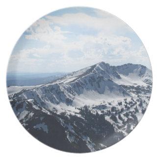 Winter Mountain Range Dinner Plate