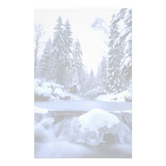 Winter mountain river- Beskid Mountains, Poland Stationery