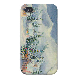 WINTER MOUNTAIN SCENE by SHARON SHARPE Covers For iPhone 4
