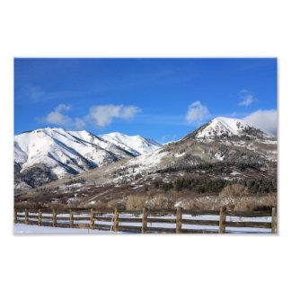 Winter Mountains Photo Print