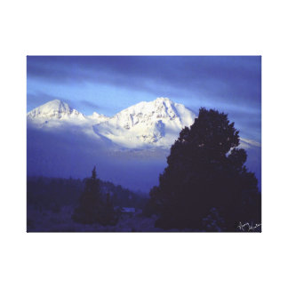 Winter Mountians Canvas Print