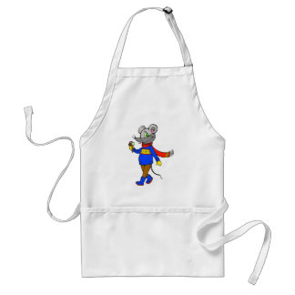 Winter Mouse Adult Apron