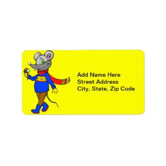 Winter Mouse Custom Address Labels