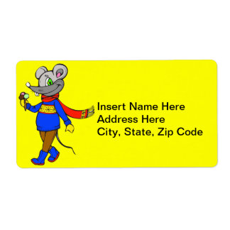 Winter Mouse Shipping Labels