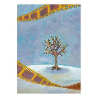 Winter movie unique film art original painting business card
