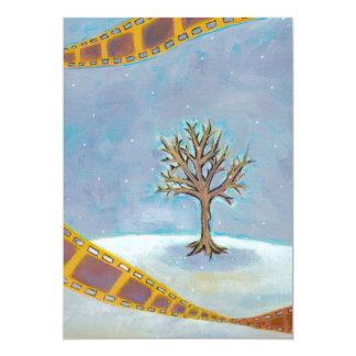 Winter movie unique film art original painting card
