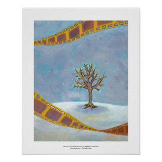 Winter movie unique film art original painting poster