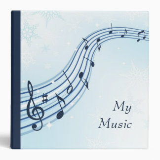 Winter music flow with musical notes binder