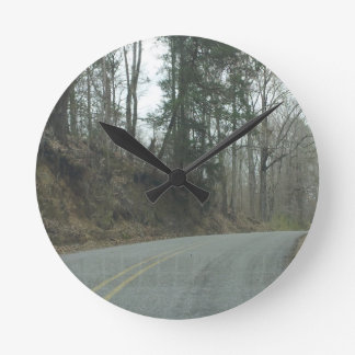 Winter Natchez Trace Parkway MS Wall Clock