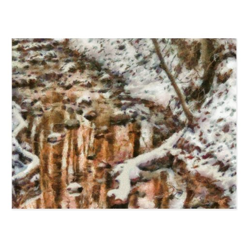 Winter - Natures Harmony - Painted Postcard