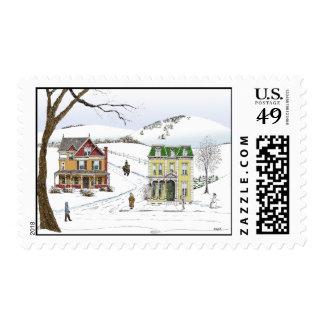 Winter Neighborhood Stamp