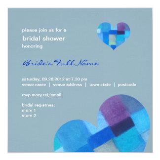 """Winter nepal Bridal Shower Invitation 5.25"""" Square Invitation Card"""