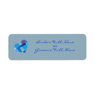 Winter nepal Bride-Groom Sticker Label