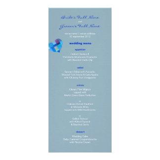 Winter nepal Wedding Menu Personalized Invite