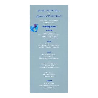 "Winter nepal Wedding Menu 4"" X 9.25"" Invitation Card"