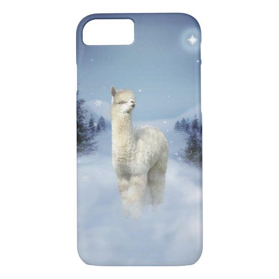 Winter Night Alpaca iPhone 7 Case