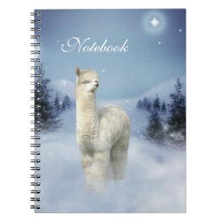Winter Night Alpaca Spiral Notebooks