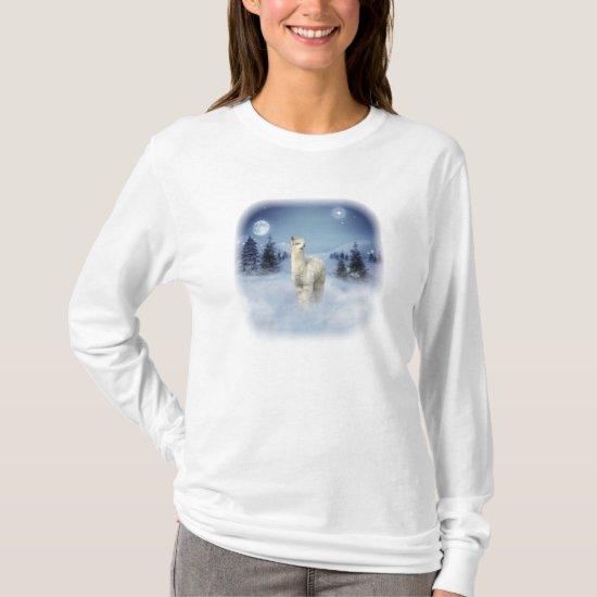 Winter Night Alpaca T-shirts