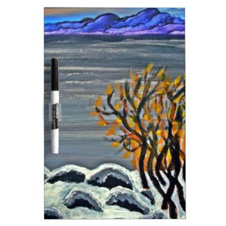 Winter night by the lake Dry-Erase boards