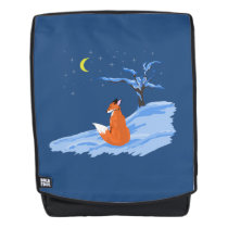 Winter Night Fox Backpack