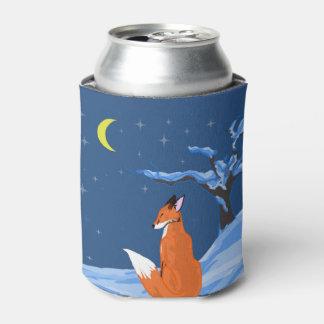 Winter Night Fox Can Cooler