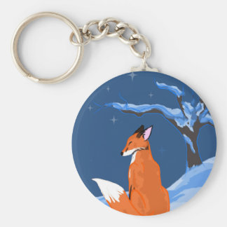 Winter Night Fox Keychain