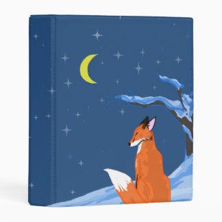 Winter Night Fox Mini Binder