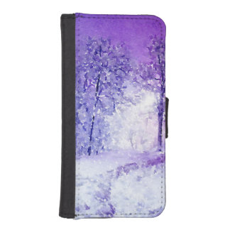 Winter Night iPhone SE/5/5s Wallet Case