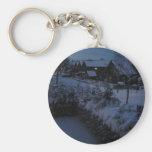 Winter night key chain