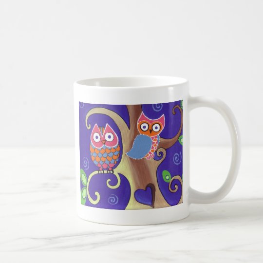 Winter Night Owls in Love Coffee Mug