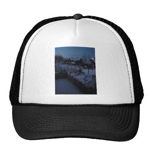 Winter night trucker hat
