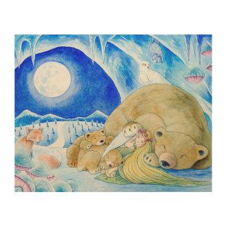 """Winter Night"" Wood Canvas"