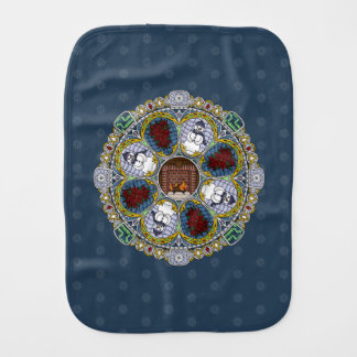 Winter Nouveau Burp Cloth