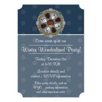 Winter Nouveau Party Invitation