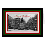 Winter NYC Union Square B & W Merry Christmas #2 Card