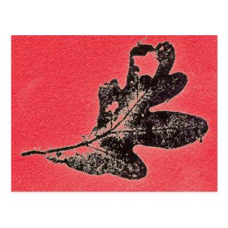 """""""Winter Oak Red"""" Country Roads Postcard"""